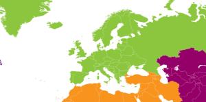 Mapa Western Europe